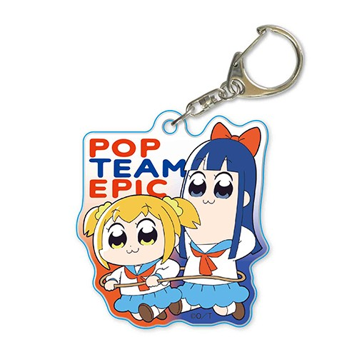 Pop Team Epic Popuko and Pipimi Running Acrylic Key Chain
