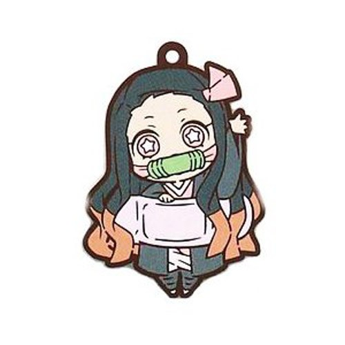 Demon Slayer Kamado Nezuko Chara Banchou Rubber Mascot Key Chain Second Form