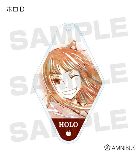Spice and Wolf Holo Winking Diamond Shaped Amnibus Key Chain