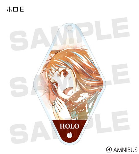 Spice and Wolf Holo Clapping Diamond Shaped Amnibus Key Chain
