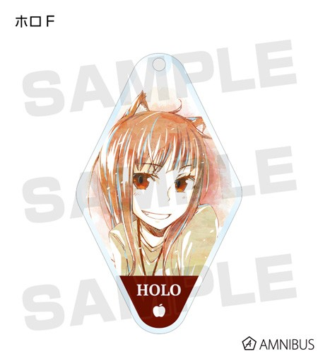 Spice and Wolf Holo Grinning Diamond Shaped Amnibus Key Chain
