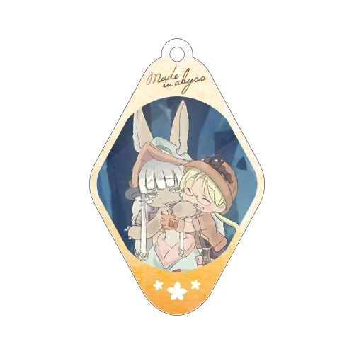 Made in Abyss Nanachi and Riko Diamond Shaped Amnibus Key Chain