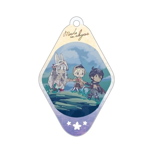 Made in Abyss Group Outside Diamond Shaped Amnibus Key Chain