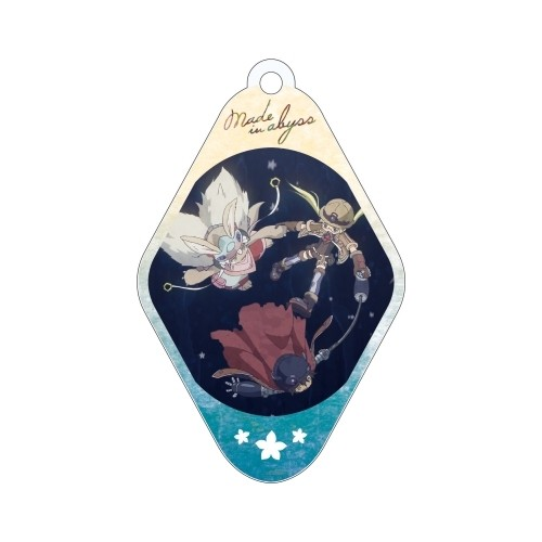 Made in Abyss Group Floating Diamond Shaped Amnibus Key Chain