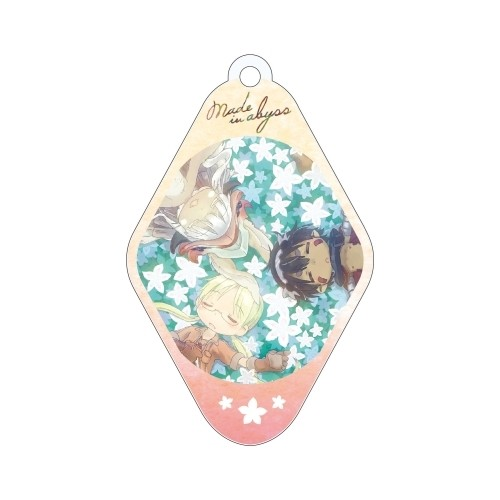 Made in Abyss Group in Flower Patch Diamond Shaped Amnibus Key Chain