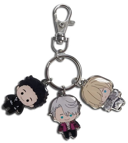 Yuri On Ice Competition Trio Metal Key Chain