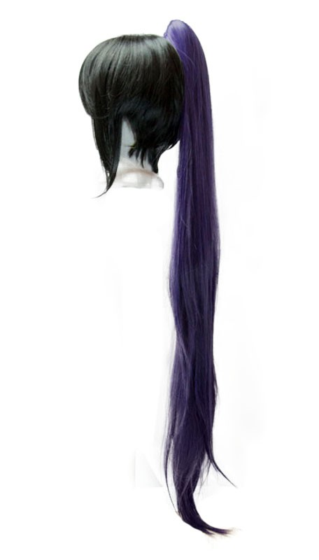 Long Straight Clip - Eggplant Purple