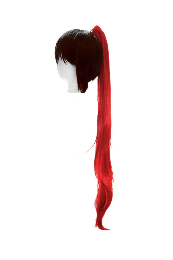 Long Straight Clip - Scarlet Red