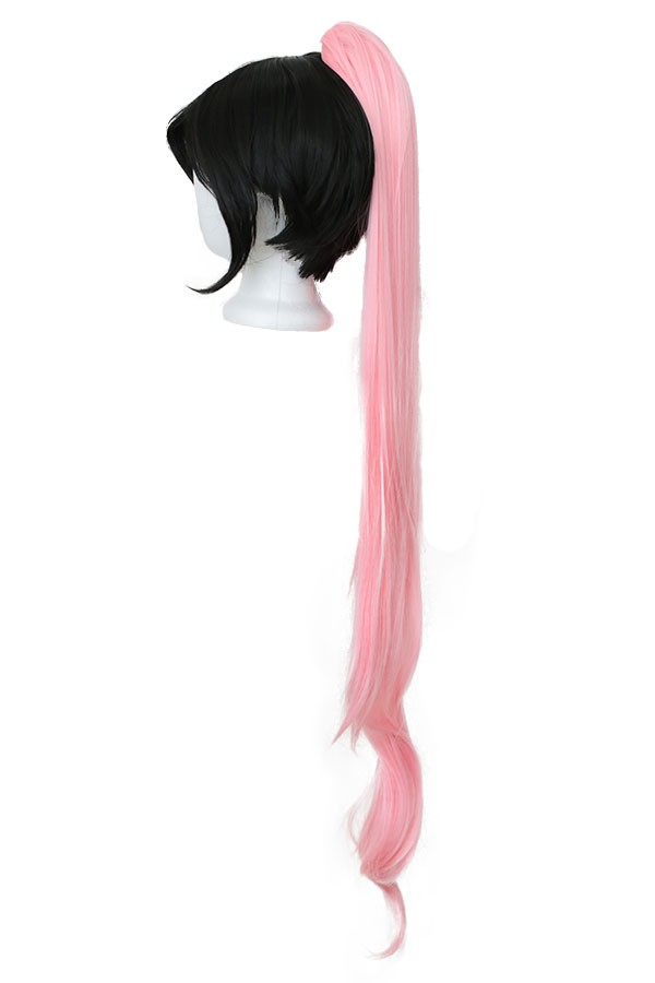 Long Straight Clip - Cotton Candy Pink