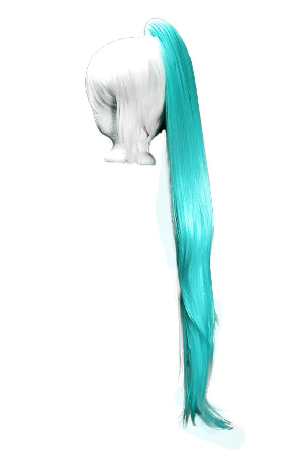 Long Straight Clip - Aqua Green