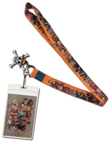 One Piece Group Orange Lanyard Key Chain