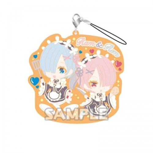 Re:Zero Rem and Ram Cooking Rubber Phone Strap