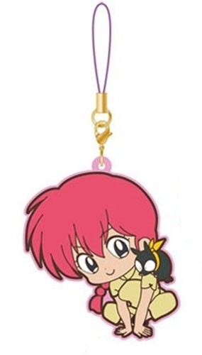 Ranma 1/2 Ranma Female Ver. and P-Chan Movic Rumiko Takahashi Rubber Phone Strap
