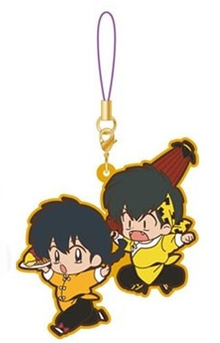Ranma 1/2 Ranma and Ryoga Movic Rumiko Takahashi Rubber Phone Strap