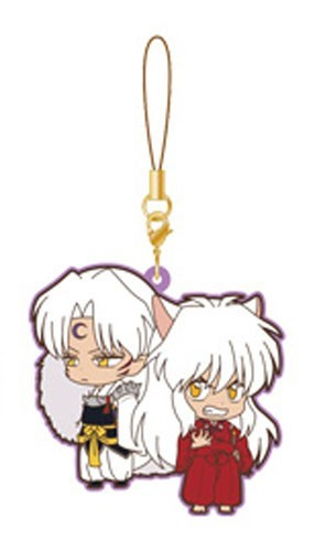 Inu Yasha and Sesshomaru Movic Rumiko Takahashi Rubber Phone Strap