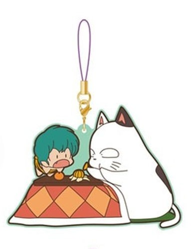 Urusei Yatsura Ten and Kotatsu-Neko Movic Rumiko Takahashi Rubber Phone Strap