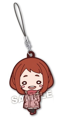 My Hero Academia Ochaco Uraraka Winter Oufit Rubber Phone Strap
