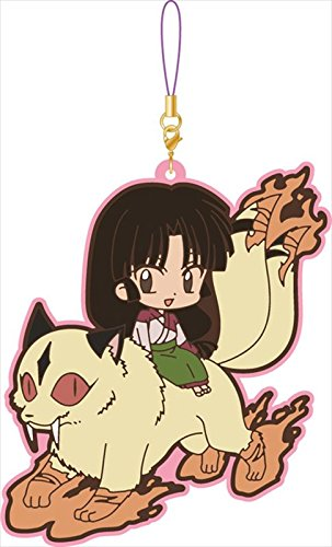 Inu Yasha Sango and Kirara Group Rubber Phone Strap