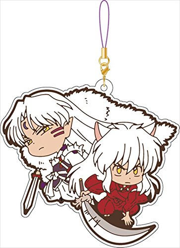 Inu Yasha and Sesshomaru Group Rubber Phone Strap