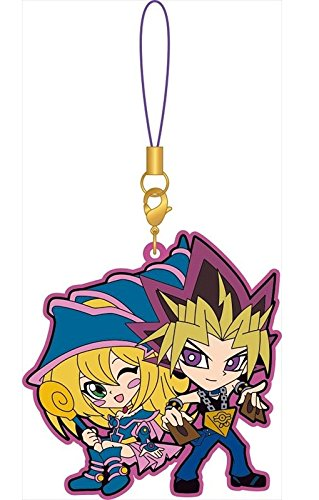 Yugioh Dark Magician Girl and Yami Yugi Pairs Rubber Phone Strap