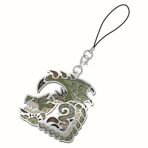 Monster Hunter Rathian Vol. 2 Metal Stained Glass Icon Phone Strap