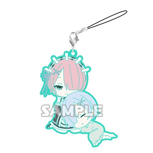 Re:Zero Rem and Ram Sleeping Pairs Kimono Rubber Phone Strap