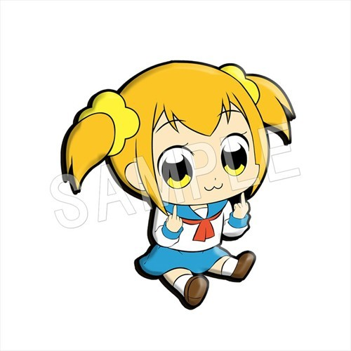 Pop Team Epic Popuko Petanko Rubber Phone Strap