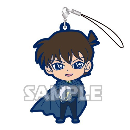 Detective Conan Kudou Shinichi in Cape Gashapon Rubber Phone Strap
