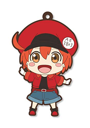 Cells at Work Red Blood Cell Rubber Phone Strap