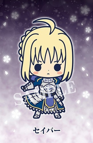 Fate Stay Night Heaven's Feel Saber Rubber Phone Strap Collection Gekijouban