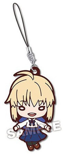 Fate Stay Night Saber Nitotan Rubber Phone Strap
