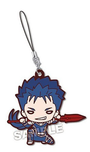 Fate Stay Night Cu Chulainn Nitotan Rubber Phone Strap
