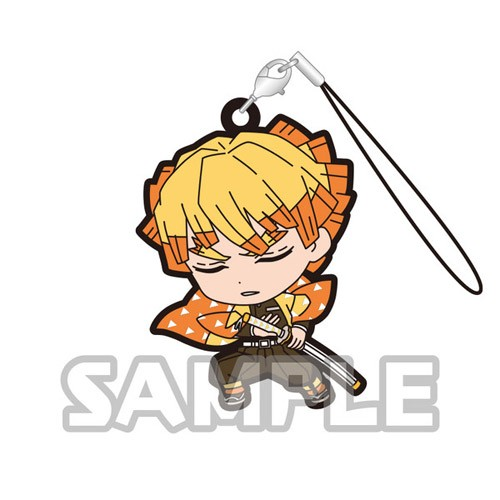 Demon Slayer Agatsuma Zenitsu Capsule Rubber Strap