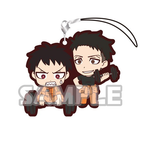Fire Force Akitaru Oubi, Shinra Kusakabe Duos Rubber Phone Strap