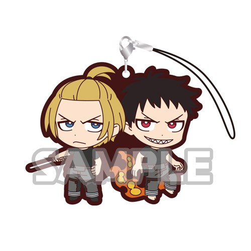 Fire Force Arthur Boyle, Shinra Kusakabe Duos Rubber Phone Strap