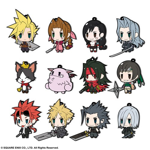 Final Fantasy VII Aerith Trading Rubber Phone Strap Extended Edition