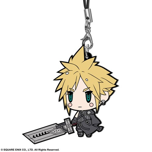 Final Fantasy VII Cloud Advent Children Ver. Trading Rubber Phone Strap Extended Edition