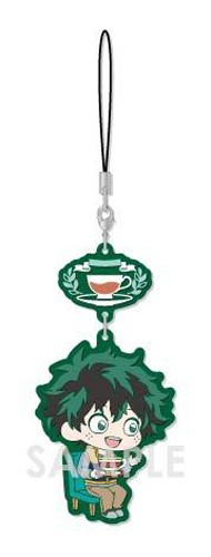 My Hero Academia Midoriya Izuku Deku Tea Party Ver. Chara Yura Rubber Phone Strap