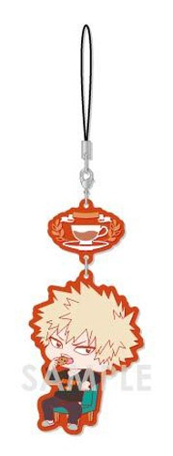 My Hero Academia Bakugo Katsuki Tea Party Ver. Chara Yura Rubber Phone Strap