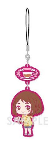 My Hero Academia Uraraka Ochako Tea Party Ver. Chara Yura Rubber Phone Strap
