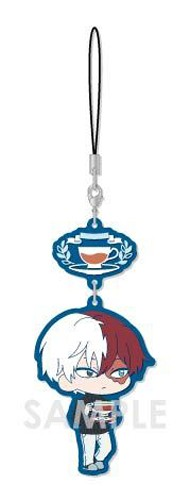 My Hero Academia Todoroki Shoto Tea Party Ver. Chara Yura Rubber Phone Strap