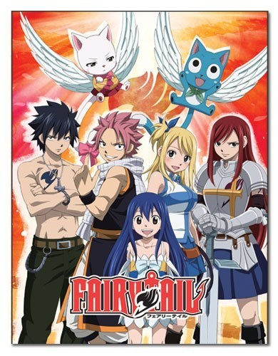 Fairy Tail Group Microfiber Fleece Blanket