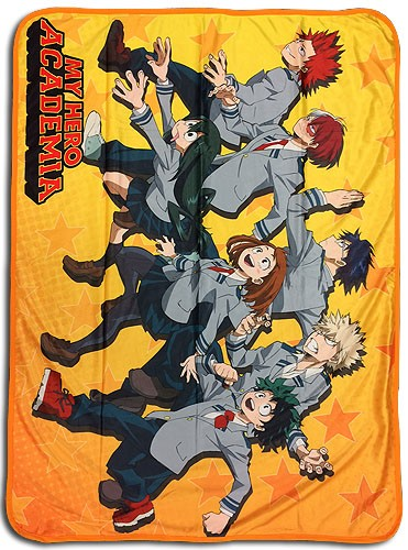 My Hero Academia Group Running Microfiber Fleece Throw Blanket