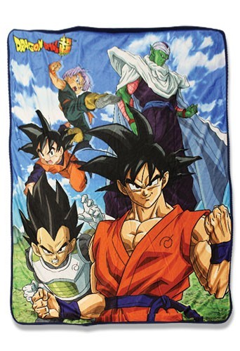 Dragonball Z Super Group of 5 Fleece Blanket
