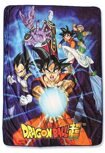 Dragonball Z Super Beerus, Whis and Group Fleece Blanket