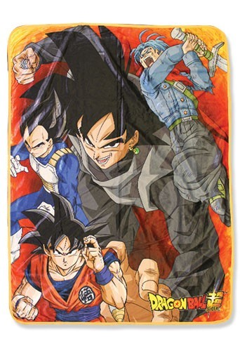 Dragonball Z Super Goku Black and Group Fleece Blanket