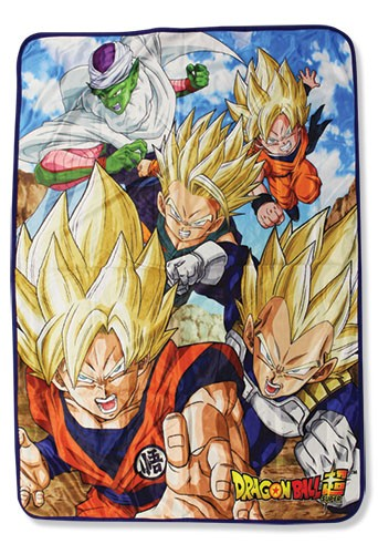 Dragonball Z Super Saiyan Group and Piccolor Microfiber Fleece Throw Blanket