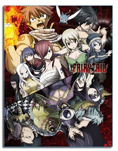 Fairy Tail Dark Group Fleece Blanket