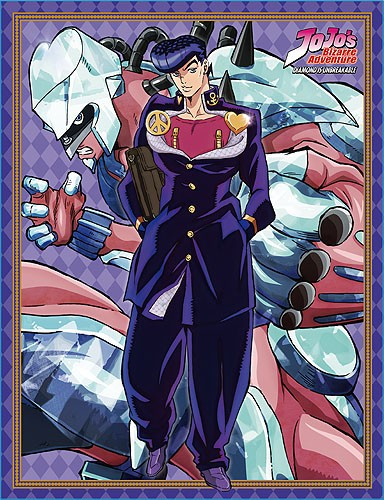 Jojo S Bizarre Adventures Josuke And Crazy Diamond Microfiber Fleece Throw Blanket Josuke higashikata s stand crazy diamond from jojo part 4 download skin now! animestuffstore com