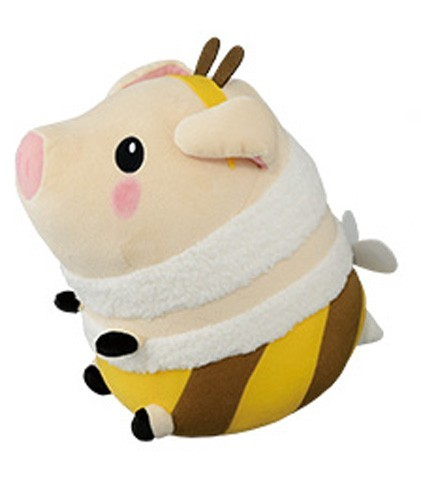 Monster Hunter 10'' Poogie Brown and Yellow Bee Costume Banpresto Prize Plush